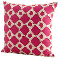 Repeat After Me 18 X 18 inch Pink Pillow