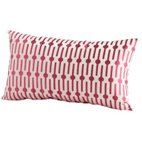 Line Drive 24 X 14 inch Pink Pillow