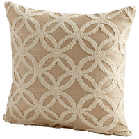 Circle Of Life 18 X 18 inch Taupe Pillow