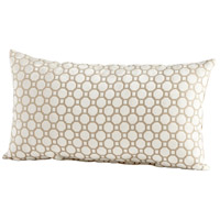 Raindrops Keep Falling 24 X 14 inch Taupe Pillow