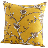 Nature Lover 22 X 22 inch Yellow Pillow