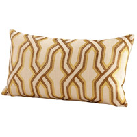 Twist And Turn 24 X 14 inch Yellow Pillow