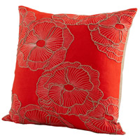 Petunia 18 X 18 inch Red Pillow