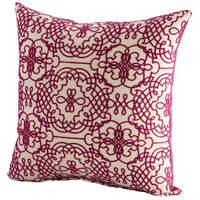 Cyan Design 06528 St Lucia 18 X 18 inch Purple and White Pillow