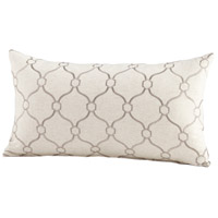 Cyan Design 06533 Linked Love 24 X 14 inch Silver Pillow