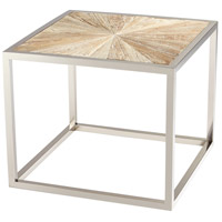 Aspen 24 X 24 inch Black Forest Grove and Chrome Side Table