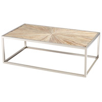 Aspen 47 X 28 inch Black Forest Grove and Chrome Coffee Table Home Decor