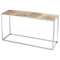 Aspen 63 X 20 inch Black Forest Grove and Chrome Console Table