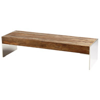 Silverton 64 X 20 inch Black Forest Grove and Chrome Coffee Table