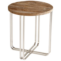 Montrose 23 inch Black Forest Grove and Chrome Side Table