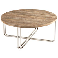 Montrose 40 inch Black Forest Grove and Chrome Coffee Table