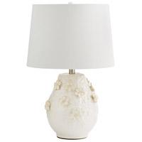 Cyan Design 06562 Eire 23 inch 100 watt Off White Glaze Table Lamp Portable Light