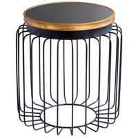 Brandy 18 inch Gold and Black Side Table