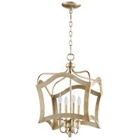 Milan 4 Light 15 inch Aged Silver Leaf Pendant Ceiling Light