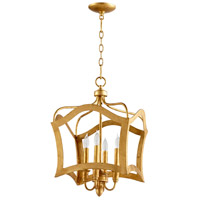 Cyan Design 06583 Milan 4 Light 15 inch Gold Leaf Pendant Ceiling Light