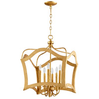 Milan 6 Light 20 inch Gold Leaf Pendant Ceiling Light