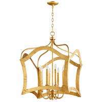 Milan 8 Light 24 inch Gold Leaf Pendant Ceiling Light