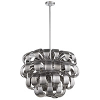 Day Lily 8 Light 28 inch Chrome Pendant Ceiling Light