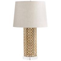 Cyan Design 06606 Woven Gold 25 inch 100 watt Antique Gold Table Lamp Portable Light