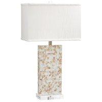 Cyan Design 06608 Palm Sands 30 inch 100 watt Mother Of Pearl Table Lamp Portable Light