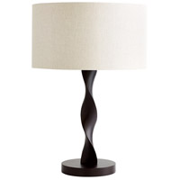 Silhouette 30 inch 100 watt Brown Table Lamp Portable Light