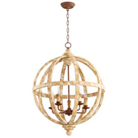Landon 5 Light 24 inch Ashfields Plaster Chandelier Ceiling Light