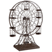 Ferris Wheel Ebony Wine Holder