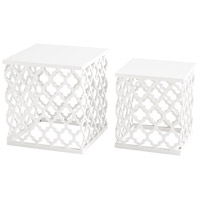 Cosmopolitan 21 X 20 inch White Side Table