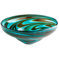 Cyan Design 06677 Woodstock Amber and Blue Bowl