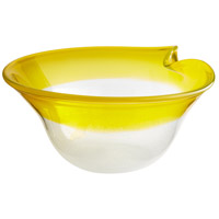 Saturna Yellow and Clear Bowl, Large