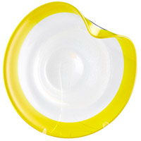 Cosmic Yellow and Clear Plate, Small