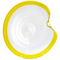 Cosmic Yellow and Clear Plate, Large