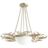 Cyan Design 06916 Vivian 3 Light 30 inch Aged Silver Leaf Pendant Ceiling Light
