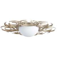 Vivian 2 Light 30 inch Aged Silver Leaf Flush Mount Ceiling Light