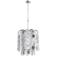 Cyan Design 06922 Carina 6 Light 19 inch Chrome Pendant Ceiling Light