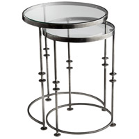 Abacus 18 inch Raw Steel Nesting Table