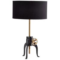 Cyan Design 07024 Astra 24 inch 60 watt Bronze and Black Table Lamp Portable Light