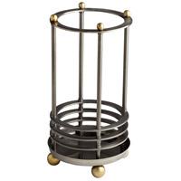 Cyan Design 07027 Orbit Satin Grey and Black Umbrella Stand