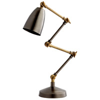 Angleton 24 inch 25 watt Bronze and Black Desk Lamp Portable Light