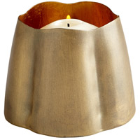 Cyan Design 07123 Fortuna Antique Brass and Gold Leaf Candleholder Small Candle(s) not included