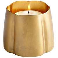 Cyan Design 07124 Fortuna Antique Brass and Gold Leaf Candleholder Large Candle(s) not included