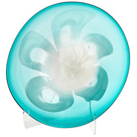 Cyan Design 07258 Flower Power Blue Plate, Medium