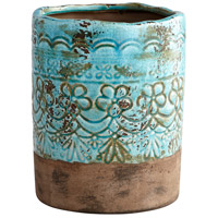 Geneva Blue Glaze Outdoor Vase, Small