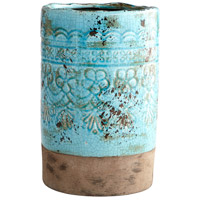 Geneva Blue Glaze Outdoor Vase, Large