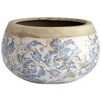 Isela Blue and White Outdoor Planter, Medium