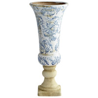 Baroque Blue and White Outdoor Planter, Medium