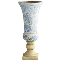 Baroque Blue and White Outdoor Planter, Large