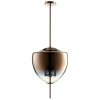 Ember 3 Light 16 inch Satin Copper Pendant Ceiling Light