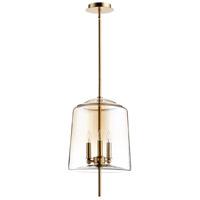 Cyan Design 07592 Lusterous 3 Light 13 inch Satin Brass Pendant Ceiling Light