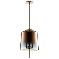 Cyan Design 07593 Lusterous 3 Light 13 inch Satin Copper Pendant Ceiling Light